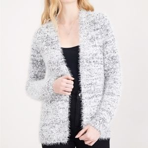 Maison Jules Fuzzy Open-Front Cardigan